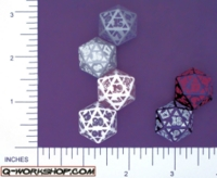 Dice : D20 OPAQUE ROUNDED SOLID Q WORKSHOP CELTIC II 01