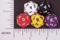 Dice : D20 OPAQUE ROUNDED SOLID FAMILY LEARNING 02