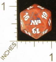 Dice : D20 OPAQUE ROUNDED SPECKLED MTG LIFE COUNTERS M12 01