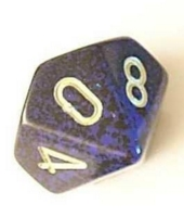 Dice : D10 OPAQUE ROUNDED SPECKLED WITH METAL 3