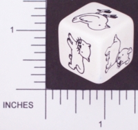 Dice : NON NUMBERED OPAQUE ROUNDED SOLID WHITE PETS 01