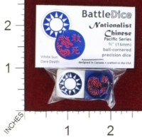 Dice : MINT44 BATTLESCHOOL BATTLEDICE PACIFIC SERIES NATIONALIST CHINESE