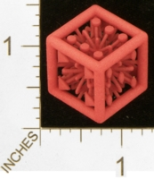 Dice : MINT27 SHAPEWAYS MCTRIVIA D6 GRID DIE 09 12