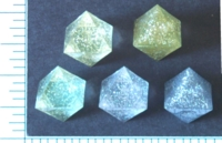 Dice : D8 TRANSLUCENT SHARP GLITTER 1