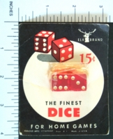 Dice : MINT2 ELK IVORY 2 RED CLEAR EIGHTHS 01