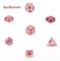 Dice : STONE MULTI CRYSTAL CASTE MALACHITE RED 01