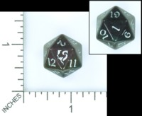 Dice : MINT54 LITTLECLUUS DEMONIC RAINBOW D20