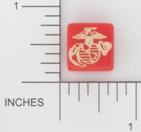 Dice : D6 OPAQUE ROUNDED SOLID GAMESTATION US MARINE CORPS