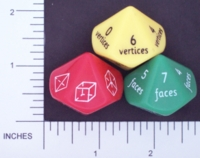 Dice : D10 OPAQUE ROUNDED SOLID KAPLAN TOYS 01
