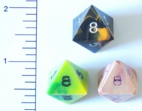 Dice : D8 OPAQUE SHARP SWIRL 1