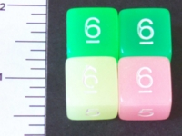 Dice : NUMBERED TRANSLUCENT ROUNDED SOLID 1