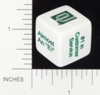 Dice : NON NUMBERED OPAQUE ROUNDED SOLID GAMESTATION ENTERPRISE CAR RENTAL