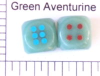 Dice : STONE D6 GREEN AVENTURINE 2