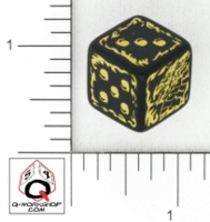 Dice : D6 OPAQUE ROUNDED SOLID Q WORKSHOP FOR RAKU GAMES DRAGONS ORDEAL 01