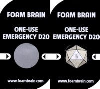 Dice : THINGS FOAM BRAIN GAMES EMERGENCY D20