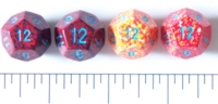 Dice : D12 OPAQUE ROUNDED SPECKLED WITH BLUE 1