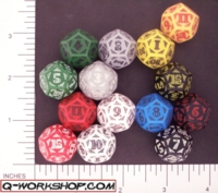 Dice : D12 OPAQUE ROUNDED SOLID Q WORKSHOP CELTIC II 02