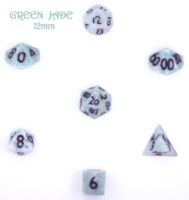 Dice : STONE MULTI CRYSTAL CASTE JADE GREEN 01
