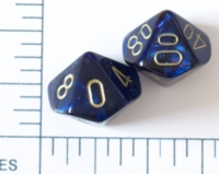 Dice : D10 OPAQUE ROUNDED IRIDESCENT CHESSEX SCARAB