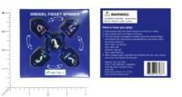 Dice : MINT59 DREIDEL COMPANY DREIDEL FIDGET SPINNER BLUE