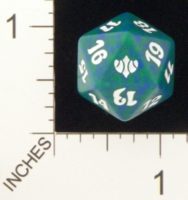 Dice : D20 OPAQUE ROUNDED SPECKLED MTG LIFE COUNTERS CONCLUX 05