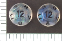 Dice : D12 TRANSLUCENT ROUNDED CHESSEX BOREALIS 2
