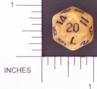 Dice : D20 OPAQUE ROUNDED IRIDESCENT 2