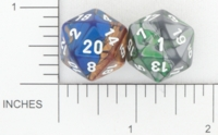 Dice : D20 OPAQUE ROUNDED IRIDESCENT CHESSEX 01