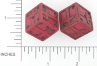 Dice : D6 OPAQUE SHARP SOLID BRIANS BAZAR CROSS 02