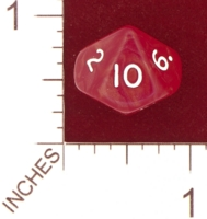 Dice : D10 OPAQUE ROUNDED IRIDESCENT UNKNOWN RED 01