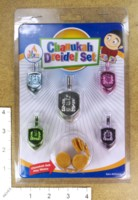 Dice : MINT43 NER MITZVAH CHANUKAH DREIDEL SET 02