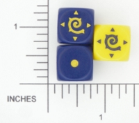 Dice : D6 2 OPAQUE ROUNDED SOLID GALE FORCE NINE FACTION 01