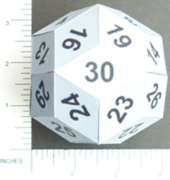 Dice : PAPER D30 MY DESIGN RHOMBIC TRIACONTAHEDRON0