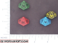 Dice : D10 OPAQUE ROUNDED SOLID Q WORKSHOP RUNIC II 04