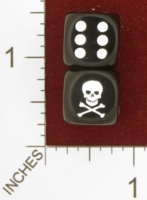 Dice : MINT26 CHESSEX CUSTOM FOR EBAY RACERSKA SKULL AND CROSSBONES 01