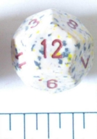 Dice : D12 OPAQUE ROUNDED SPECKLED WITH BROWN 2