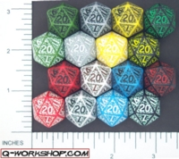 Dice : D20 OPAQUE ROUNDED SOLID Q WORKSHOP ELVEN 01