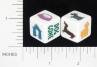 Dice : NON NUMBERED OPAQUE ROUNDED SOLID GAMEWRIGHT DOG DICE 01
