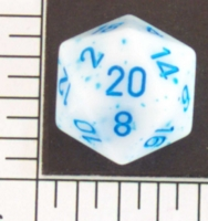 Dice : D20 OPAQUE ROUNDED SPECKLED WITH BLUE 1