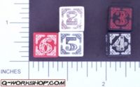 Dice : NUMBERED OPAQUE ROUNDED SOLID Q WORKSHOP CELTIC II 01