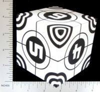 Dice : PAPER D06 Q-WORKSHOP DICE DESIGN CONTEST NOVEMBER 2007 THOMAS PASIEKA 03 CROSS HAIRS
