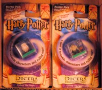 Dice : DUPS03 MATTELL HARRY POTTER DICERS MISPRINTED HEDWIG TROLL 01