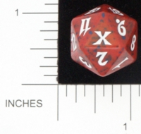 Dice : D20 OPAQUE ROUNDED SPECKLED MTG LIFE COUNTERS 10TH EDITION 01