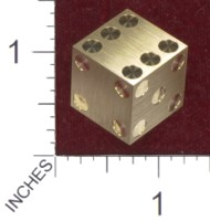Dice : MINT36 CYBERNETIC RESEARCH LABORATORIES AMBER RIX MACHINED PRECISION DICE BRASS
