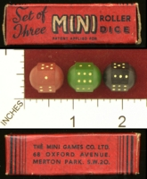 Dice : MINT28 THE MINI DICE CO LTD MINI ROLLER DICE 01