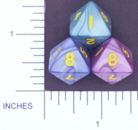 Dice : D8 OPAQUE ROUNDED IRIDESCENT KOPLOW 01