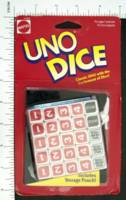 Dice : MINT2 MATTEL UNO DICE 01