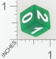 Dice : NUMBERED CLEAR SHARP SOLID UNKNOWN 0 TO 5 01