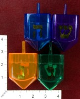 Dice : MINT37 JEWISH EDUCATIONAL TOYS DREIDEL REFILLABLE SMALL