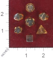 Dice : MINT41 CRYSTAL CASTE QUARTZ ELECTOPLATED GOLDEN AURA